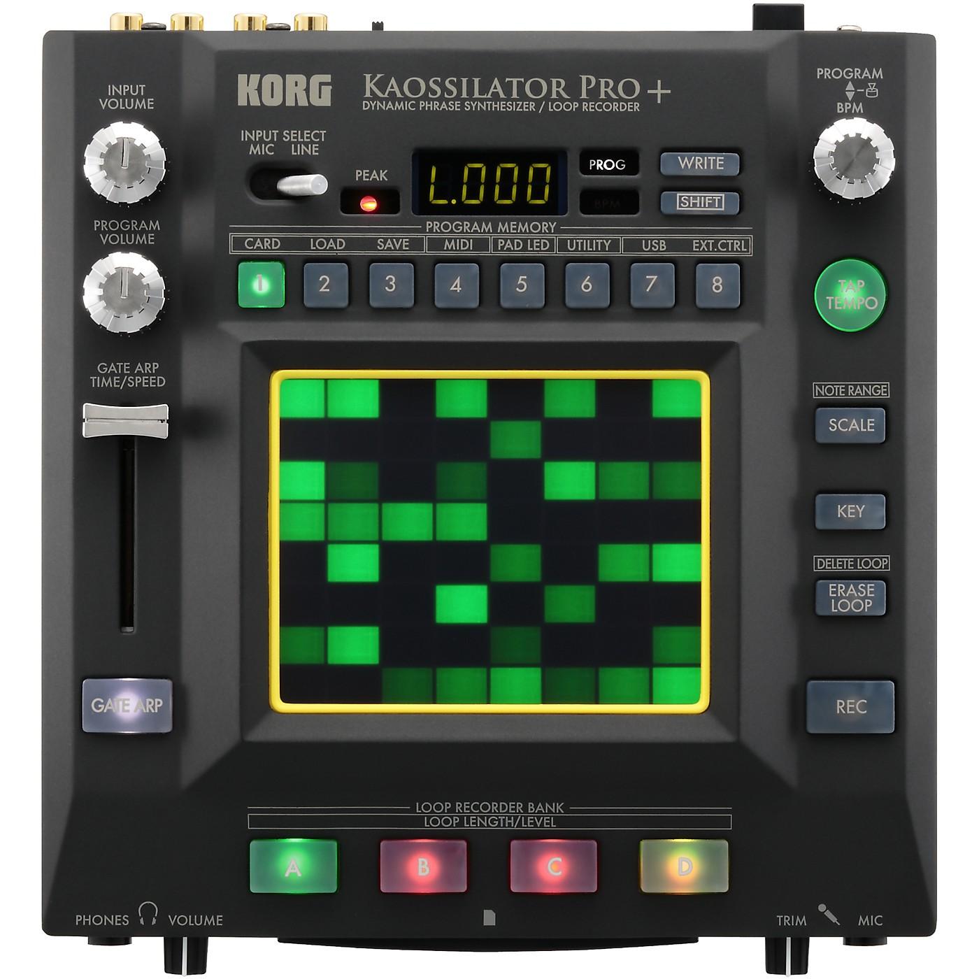 Korg Kaossilator Pro+ Dynamic Phrase Synthesizer/Loop Recorder thumbnail
