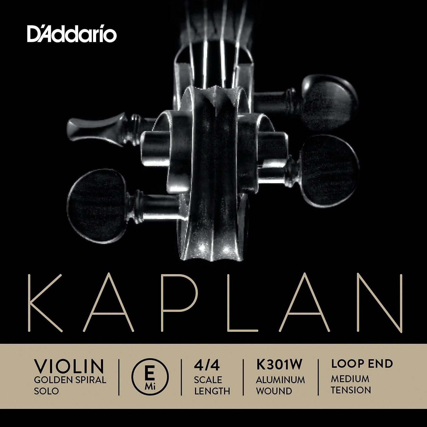 D'Addario Kaplan Golden Spiral Solo Wound Series Violin E String thumbnail