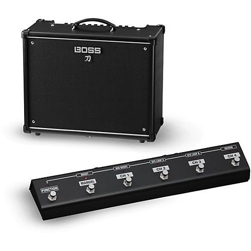Boss Katana KTN-100 100W 1x12 Guitar Combo Amplifier with GA-FC Foot Controller thumbnail