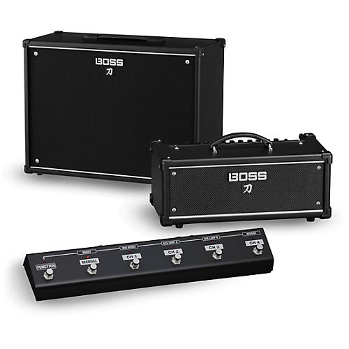 Boss Katana KTN-Head 100W Guitar Amplifier Head and 212 150W 2x12 Cabinet with GA-FC Foot Controller thumbnail