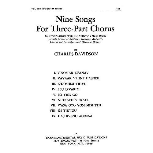Transcontinental Music K'doshim Tih'yu SAB composed by Charles Davidson thumbnail