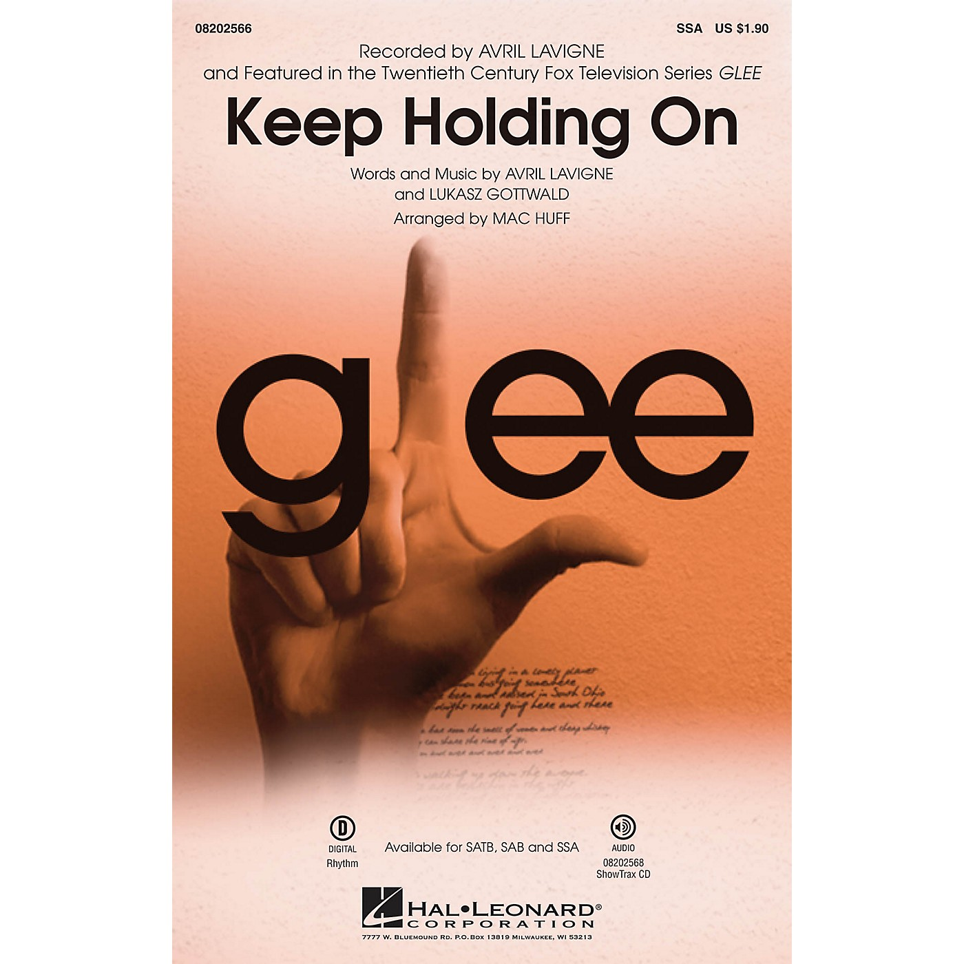 Hal Leonard Keep Holding On (from Glee) SSA by Avril Lavigne arranged by Mac Huff thumbnail