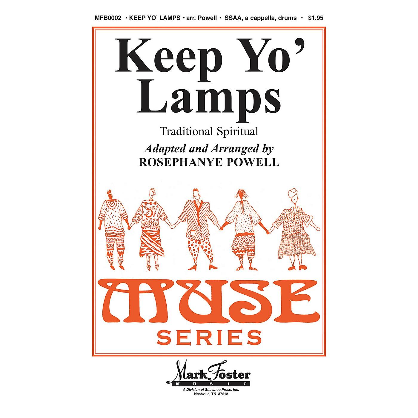 Shawnee Press Keep Yo' Lamps SSAA A CAPPELLA arranged by Rosephanye Powell thumbnail
