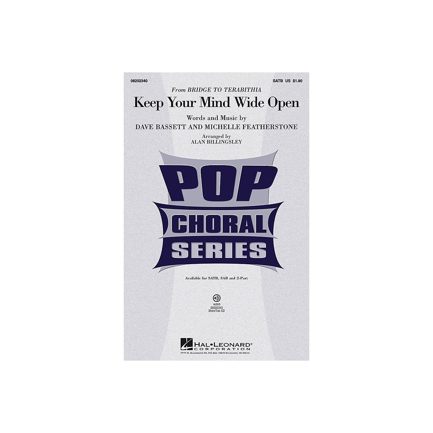 Hal Leonard Keep Your Mind Wide Open 2-Part by AnnaSophia Robb Arranged by Alan Billingsley thumbnail