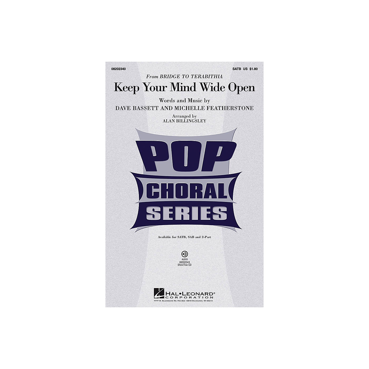 Hal Leonard Keep Your Mind Wide Open ShowTrax CD by AnnaSophia Robb Arranged by Alan Billingsley thumbnail