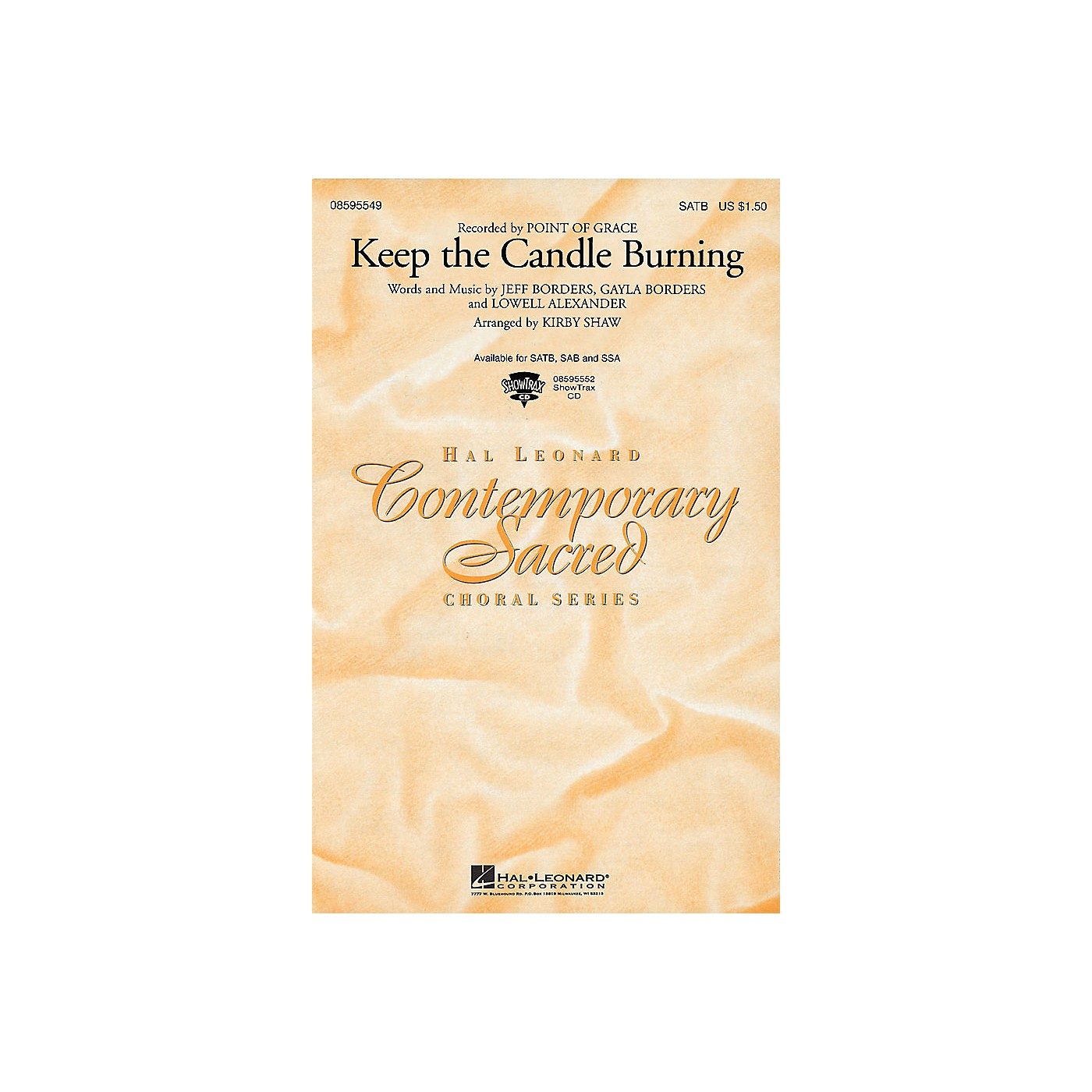 Hal Leonard Keep the Candle Burning SAB by Point Of Grace Arranged by Kirby Shaw thumbnail