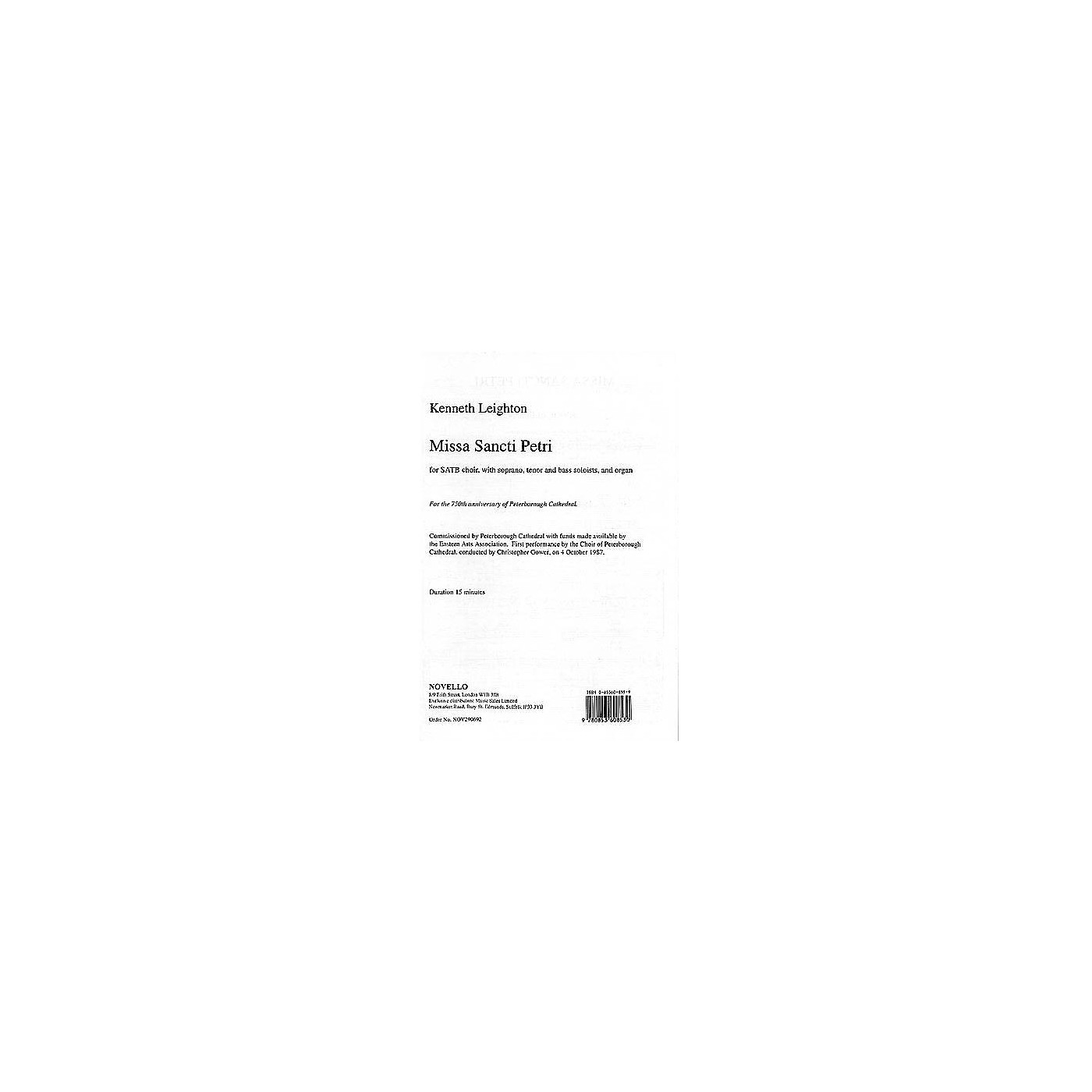 Music Sales Kenneth Leighton: Missa Sancti Petri Music Sales America Series thumbnail
