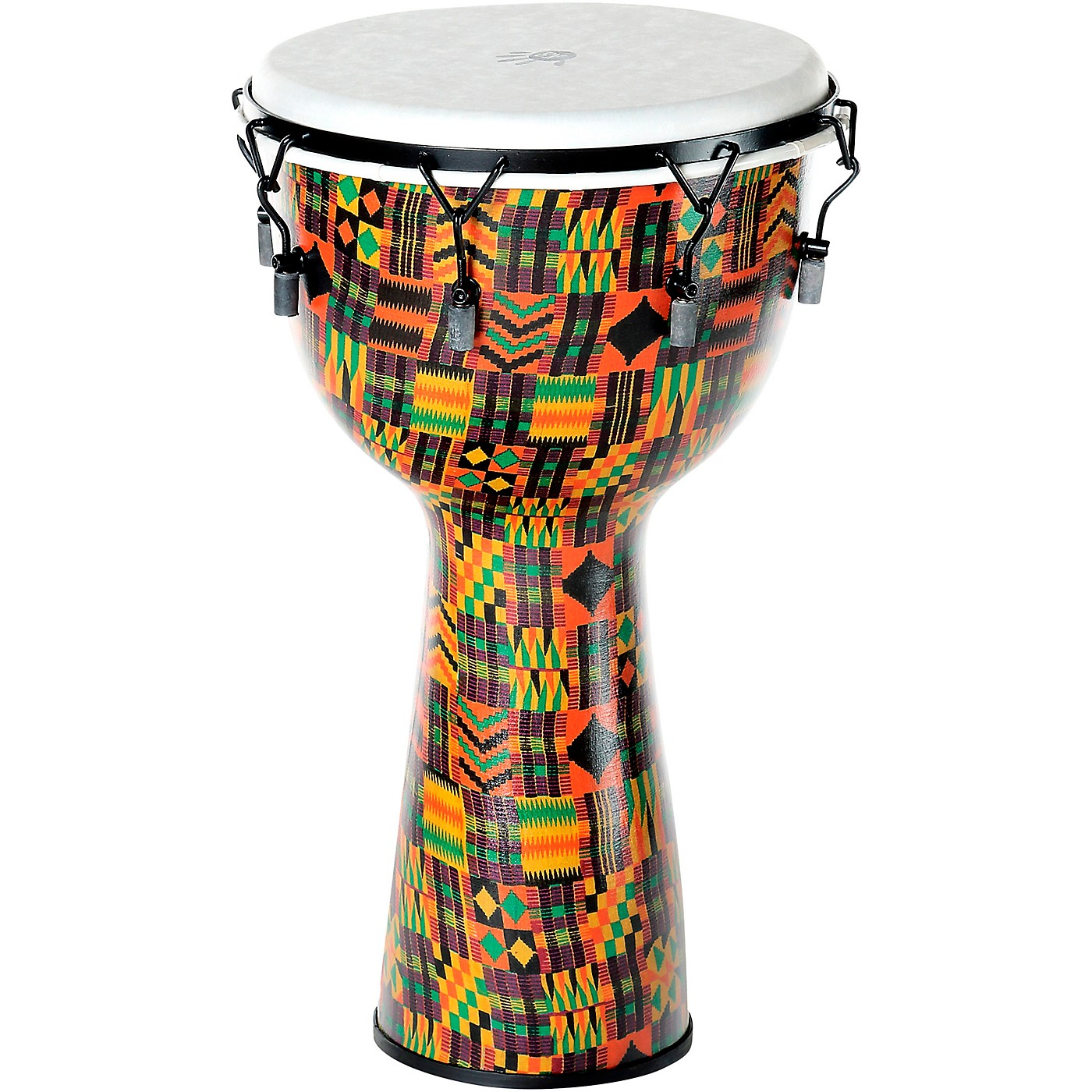 X8 Drums Kente Cloth Key-Tuned Djembe with Synthetic Head thumbnail
