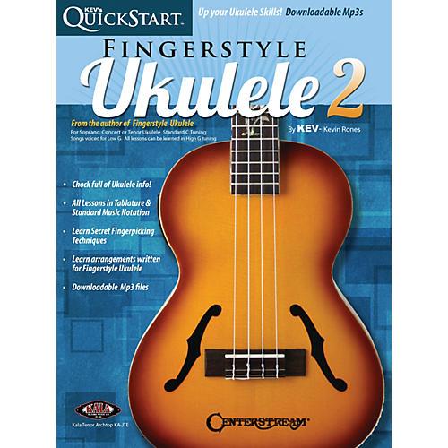 Centerstream Publishing Kev's QuickStart for Fingerstyle Ukulele - Volume 2 For Soprano, Concert or Tenor Ukuleles Book/Online Audio thumbnail