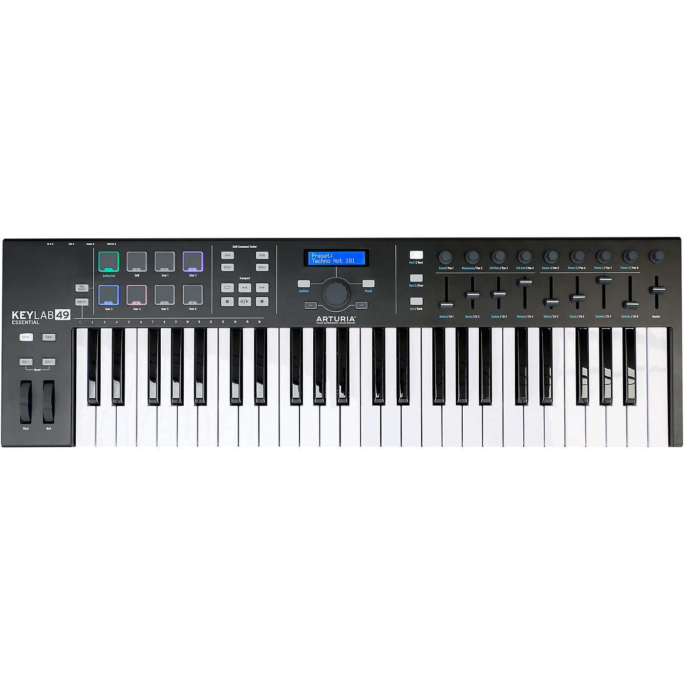 Arturia KeyLab Essential 49 MIDI Keyboard Controller Black thumbnail