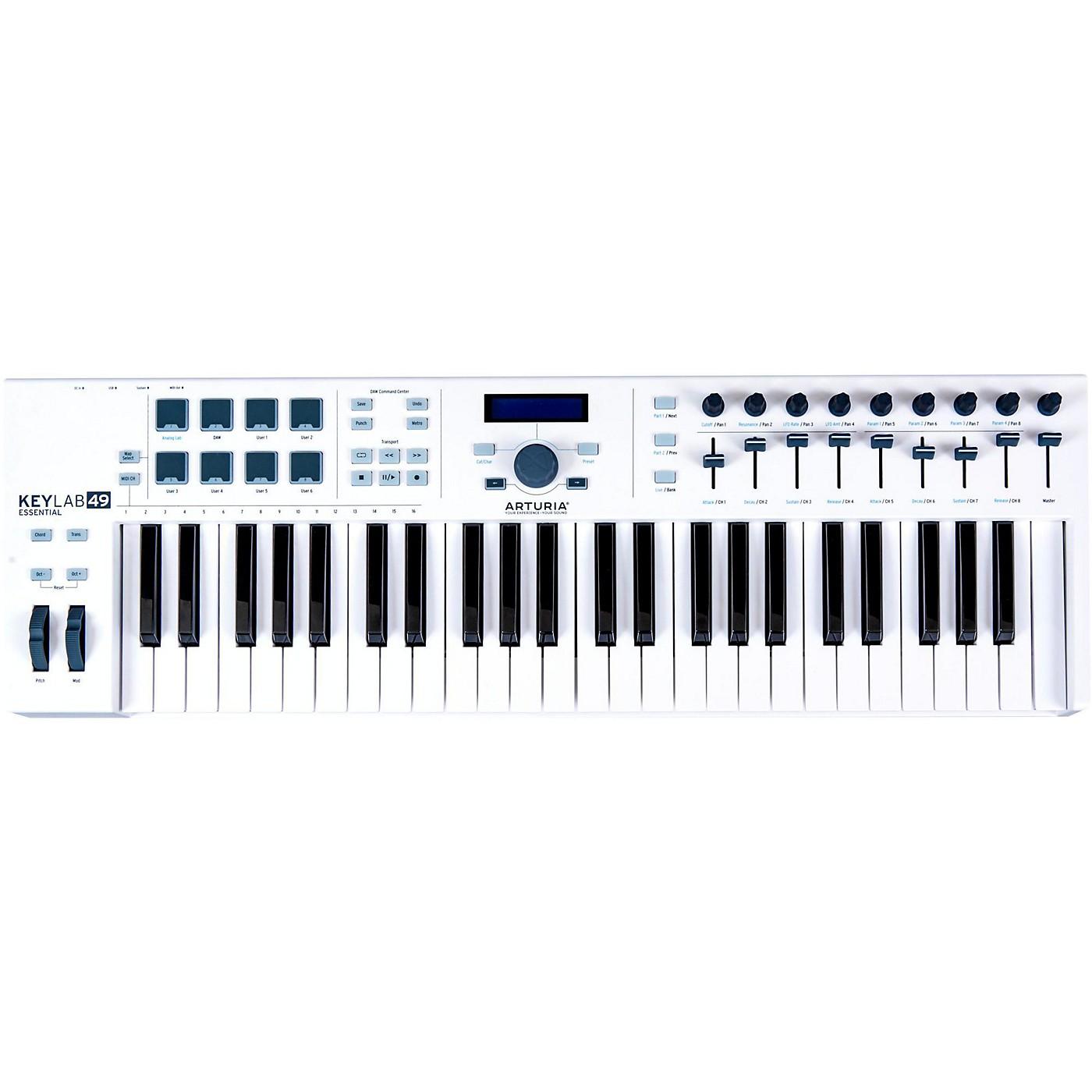 Arturia KeyLab Essential 49 MIDI Keyboard Controller White thumbnail