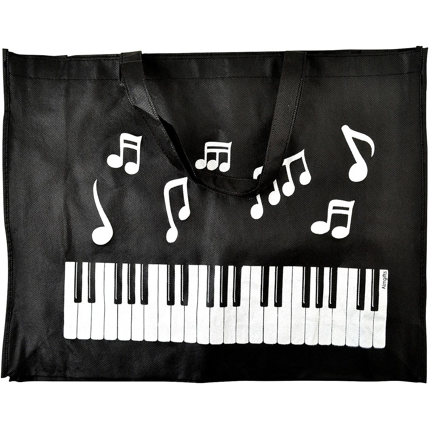 AIM Keyboard Notes Reusable Black Tote Bag thumbnail