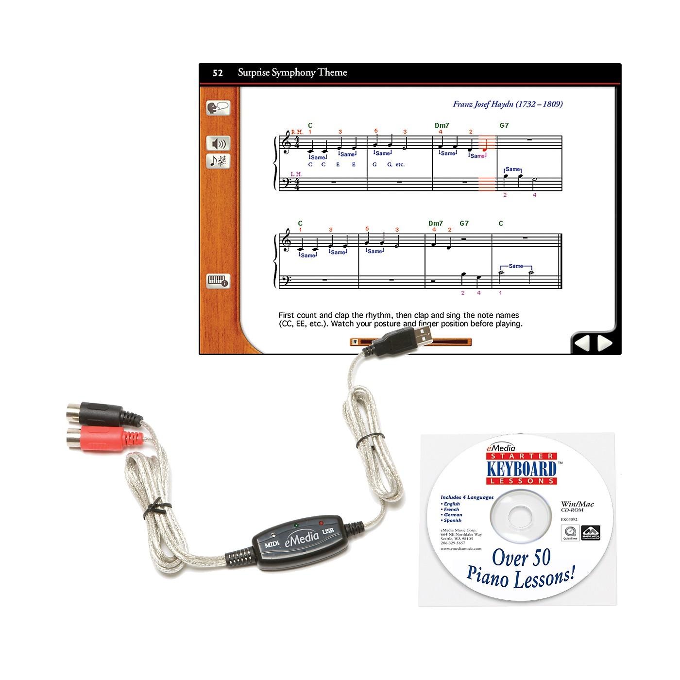eMedia Keyboard USB MIDI Interface Kit thumbnail