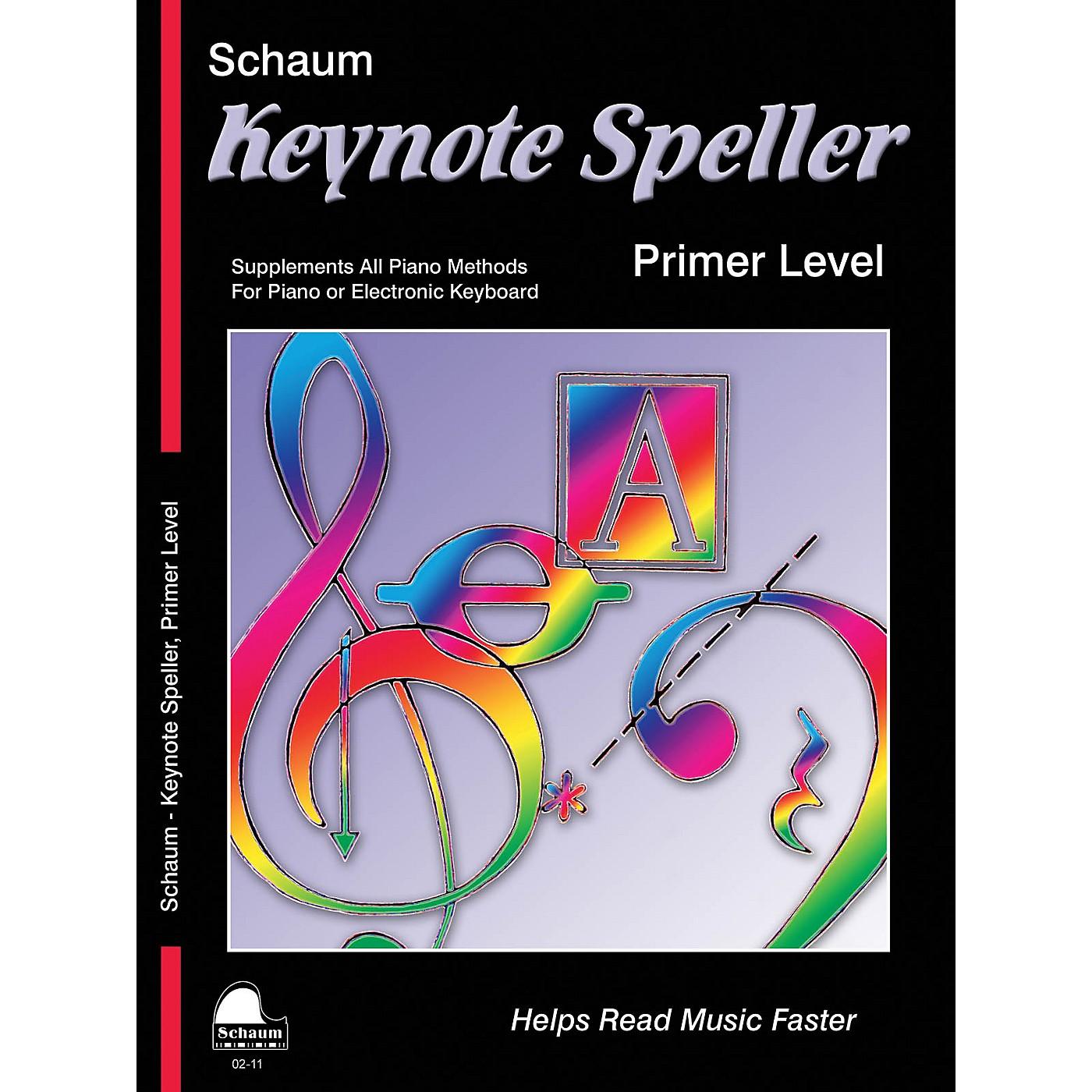 SCHAUM Keynote Speller Primer Level Educational Piano Book by John W. Schaum thumbnail