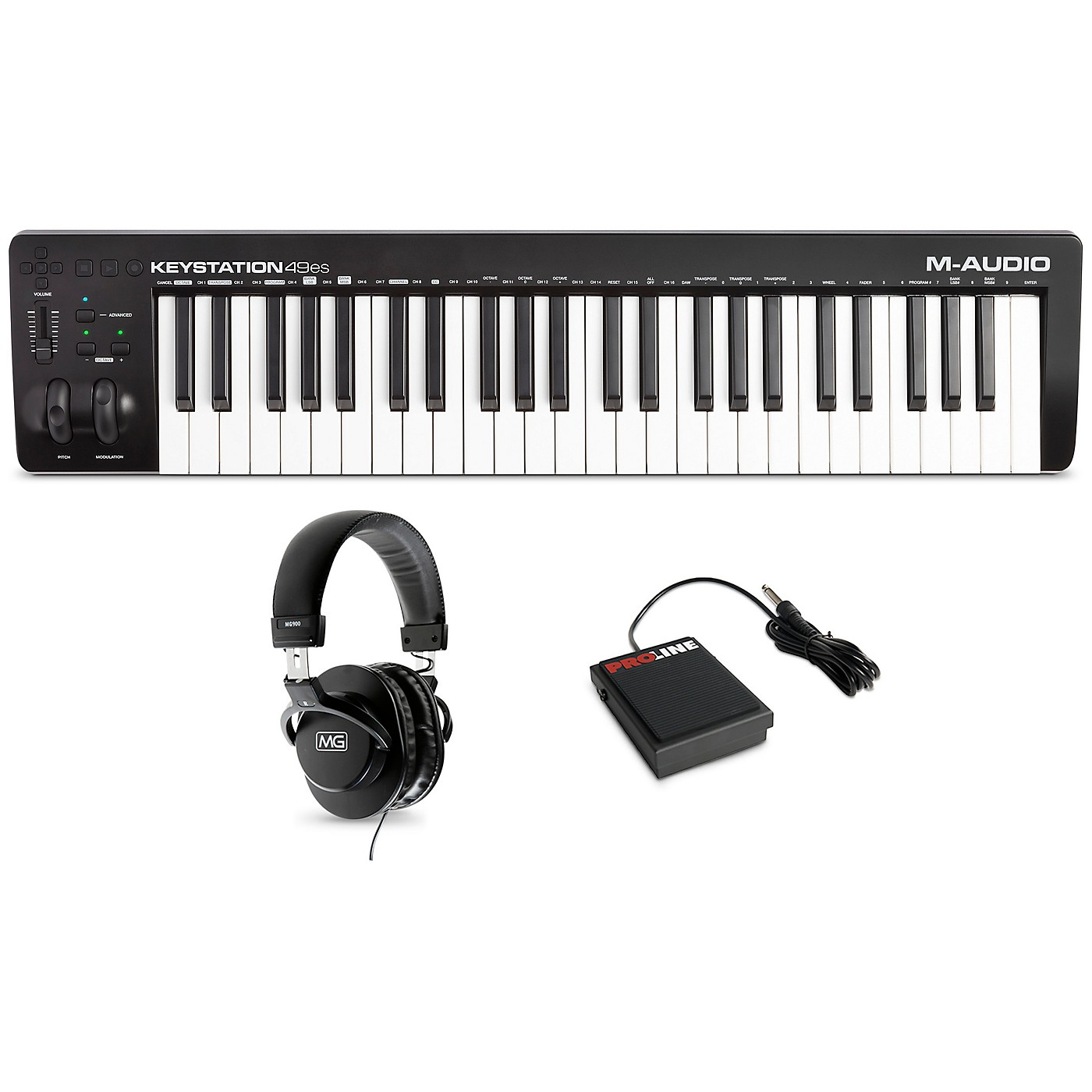 M-Audio Keystation 49es MK3 Controller With Sustain Pedal and Headphones thumbnail