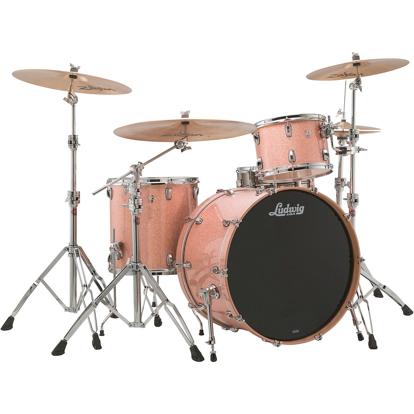 Ludwig Keystone X 3-Piece Pro Beat Shell Pack with 24 in. Bass Drum thumbnail
