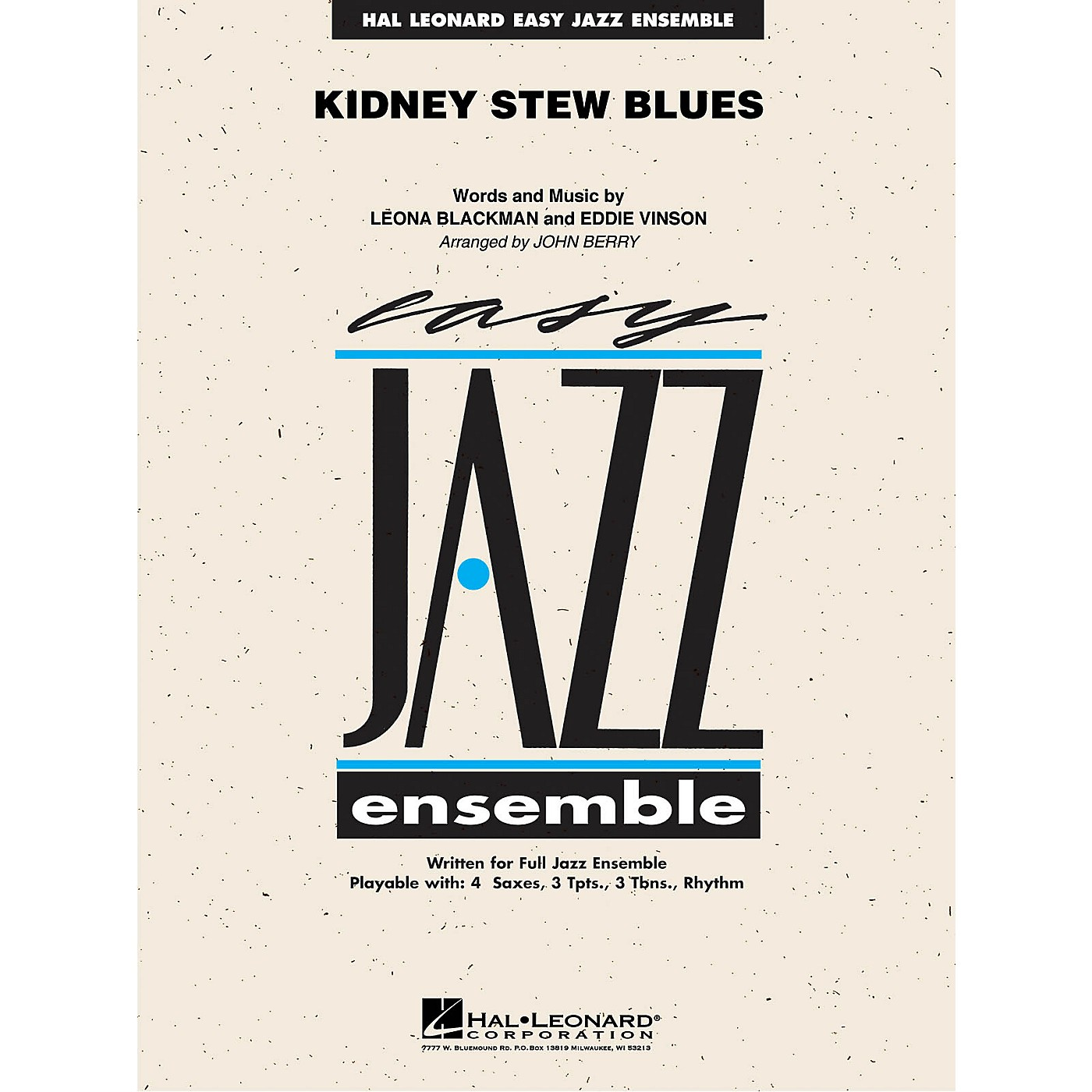 Hal Leonard Kidney Stew Blues Jazz Band Level 2 Arranged by John Berry thumbnail