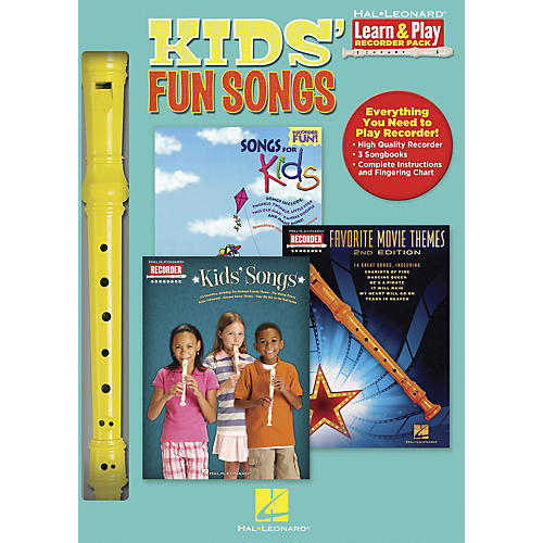 Hal Leonard Kids' Fun Songs Learn & Play 3-Book & Recorder Pack thumbnail