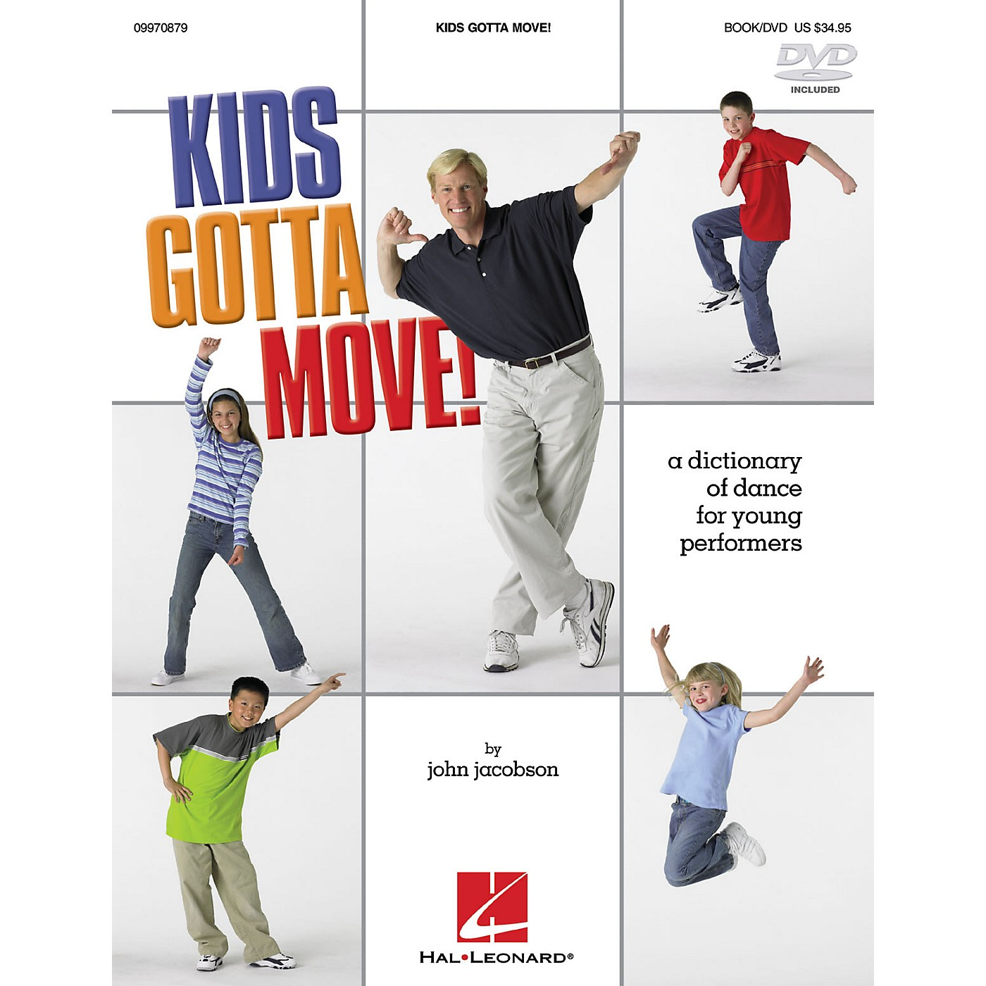 Hal Leonard Kids Gotta Move! (Resource) (Dictionary of Dance for Young Performers) Instructional book & DVD thumbnail