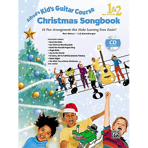 Alfred Kid's Guitar Course Christmas Songbook 1 & 2 with CD thumbnail