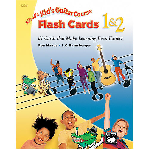 Alfred Kid's Guitar Course Flash Cards 1 & 2 thumbnail