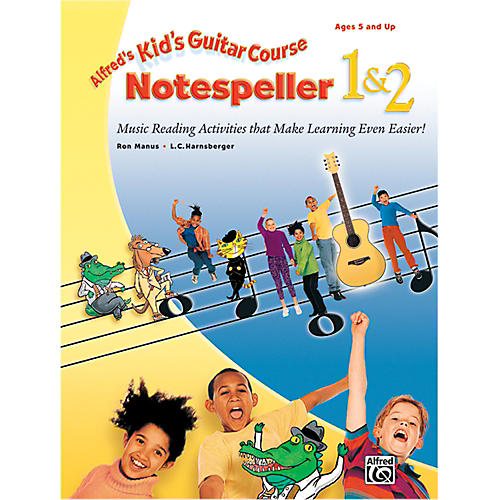 Alfred Kid's Guitar Course Notespeller 1 & 2 Book thumbnail