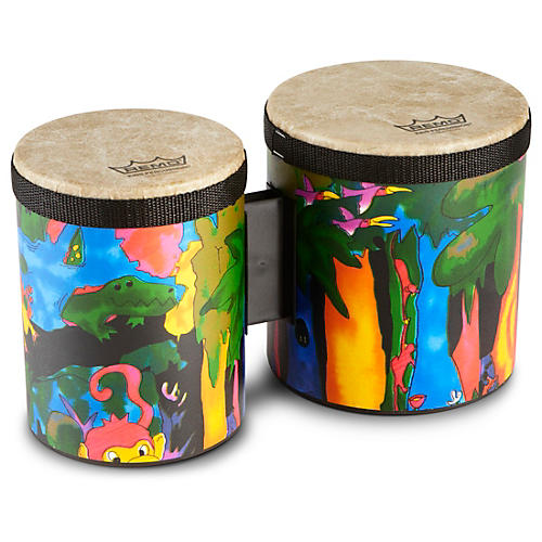 Remo Kid's Percussion Rain Forest Bongos thumbnail