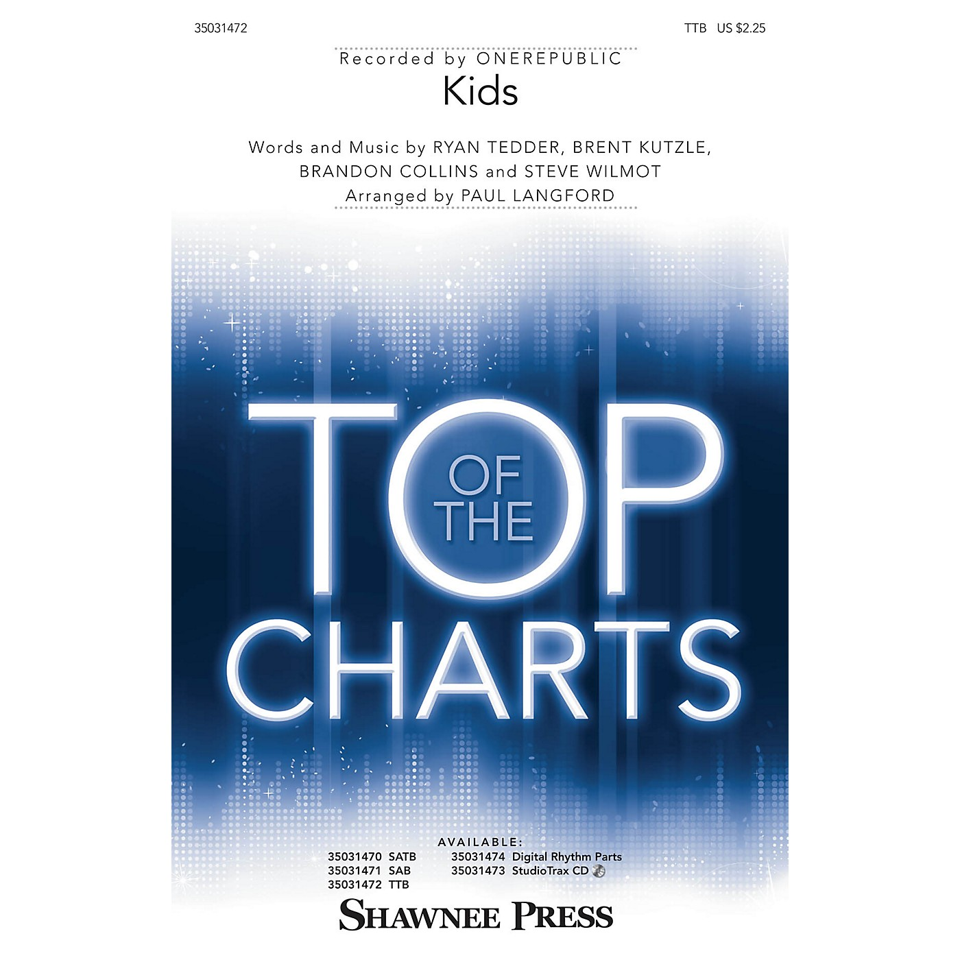 Shawnee Press Kids TTB by One Republic arranged by Paul Langford thumbnail