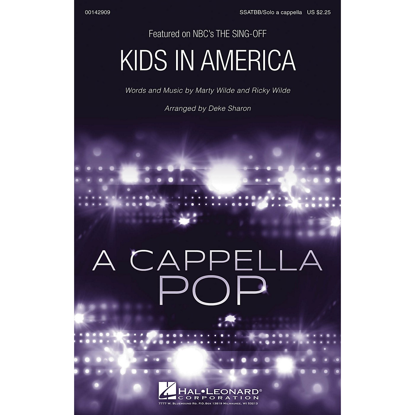 Hal Leonard Kids in America from The Sing-Off (SSATBB/Solo a cappella) arranged by Deke Sharon thumbnail