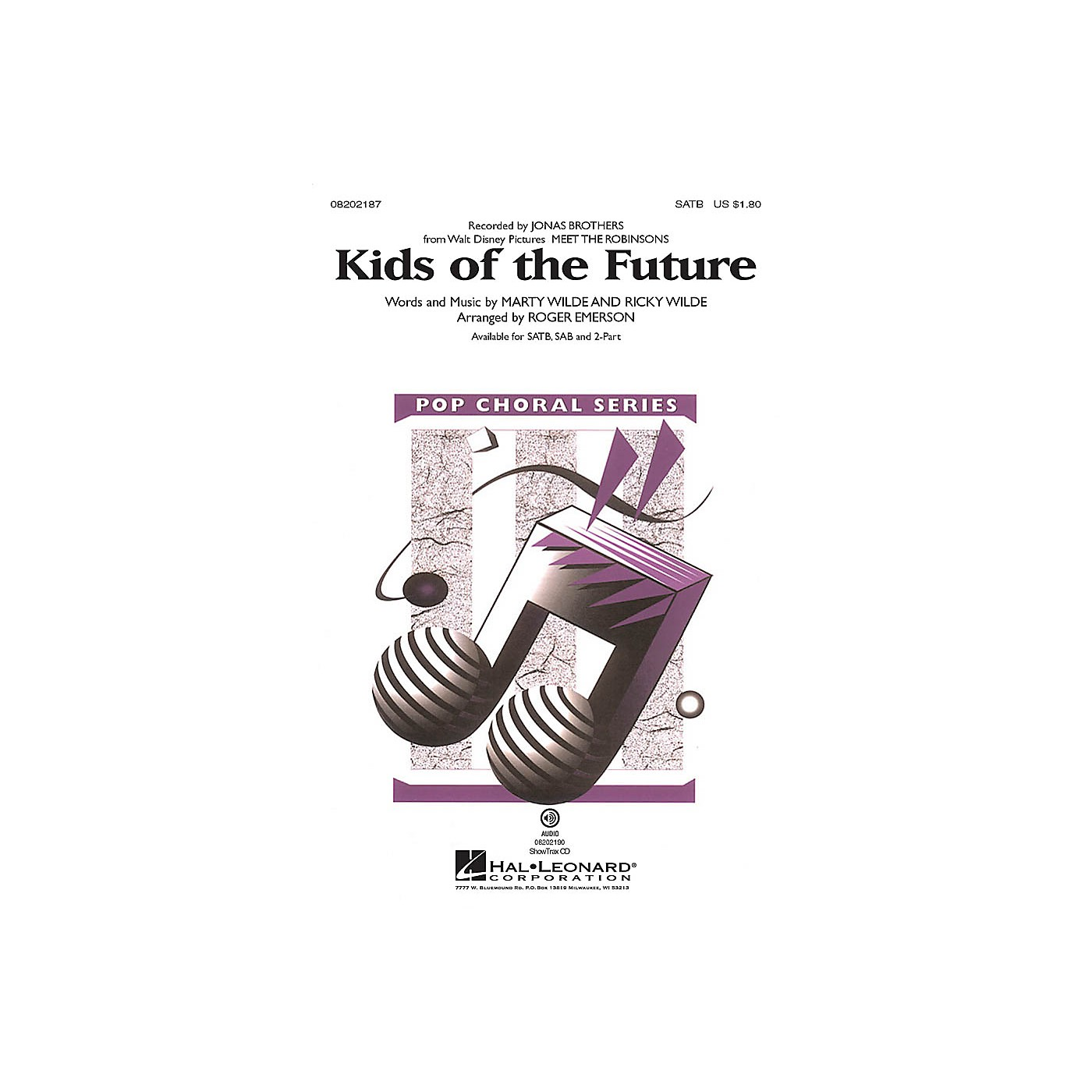 Hal Leonard Kids of the Future ShowTrax CD by Jonas Brothers Arranged by Roger Emerson thumbnail