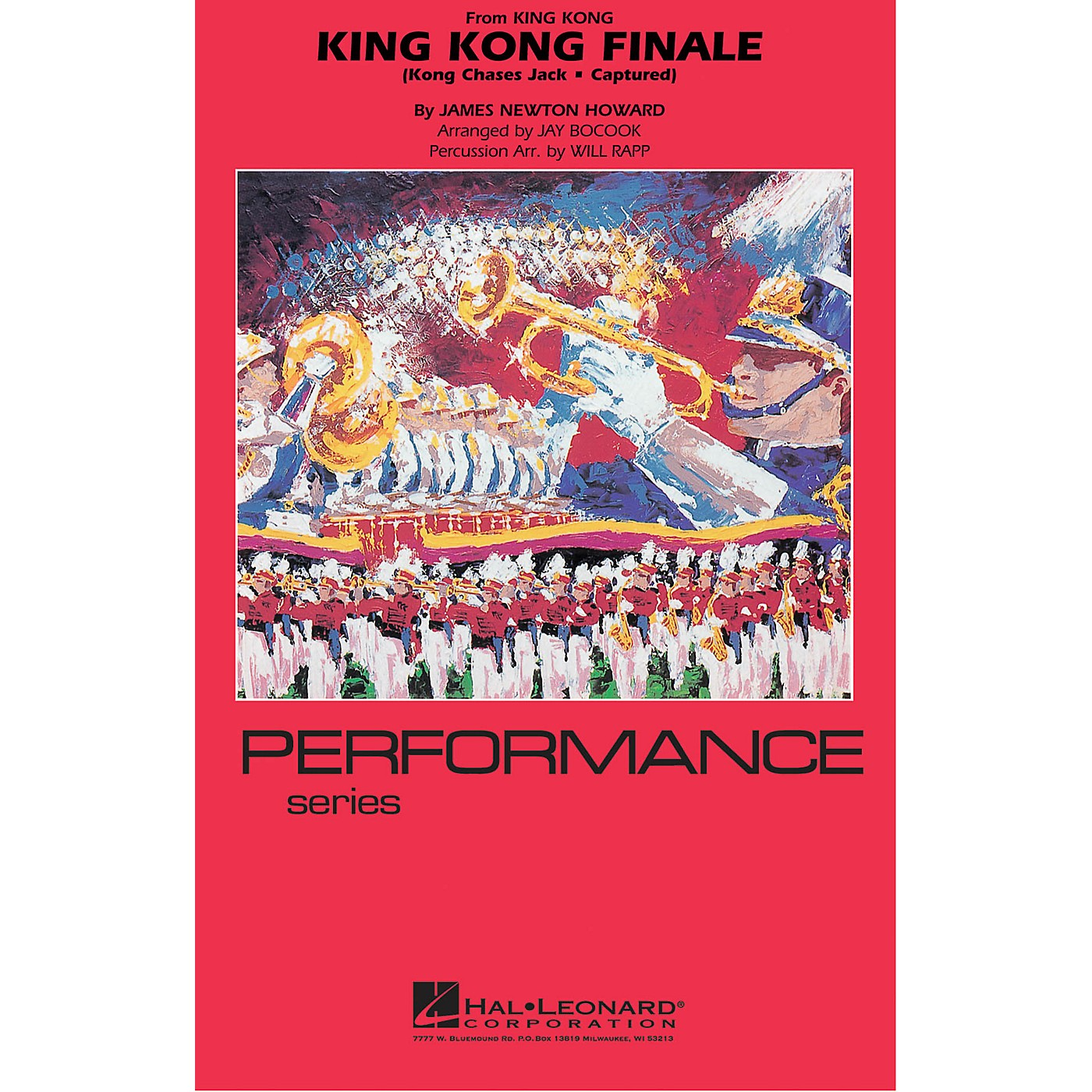 Hal Leonard King Kong Finale Marching Band Level 4 Arranged by Jay Bocook thumbnail