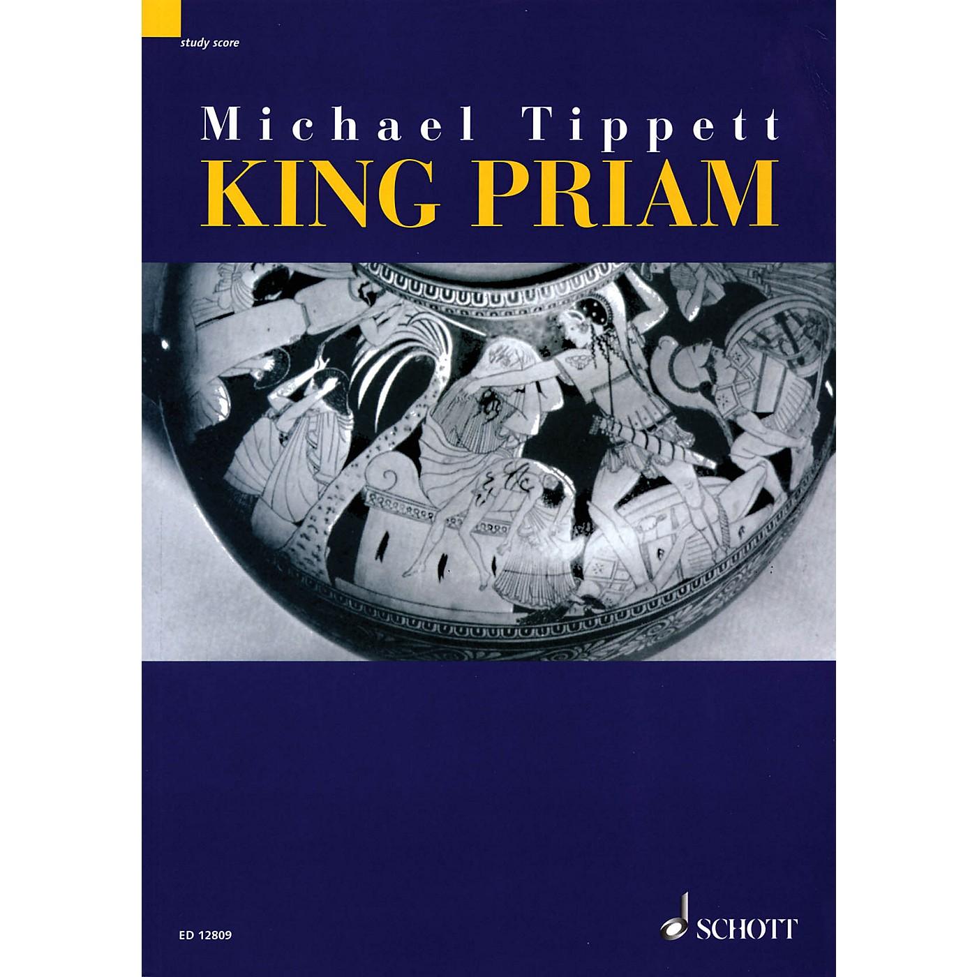 Schott King Priam - Opera iin 3 Acts (1958-1961) (Study Score) Schott Series Composed by Michael Tippett thumbnail