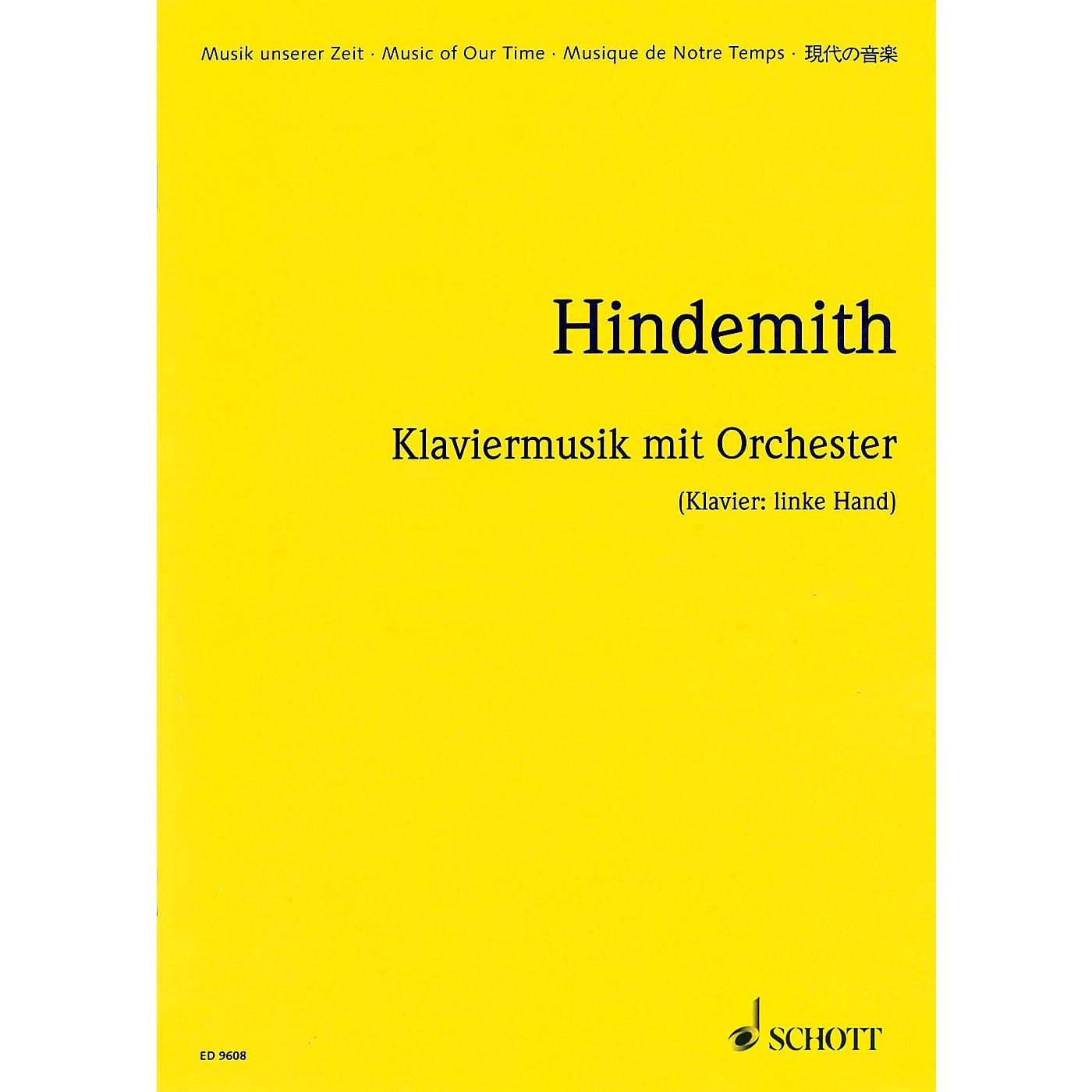 Schott Klaviermusik mit Orchester, Op. 29 (1923) (Study Score) Schott Series thumbnail