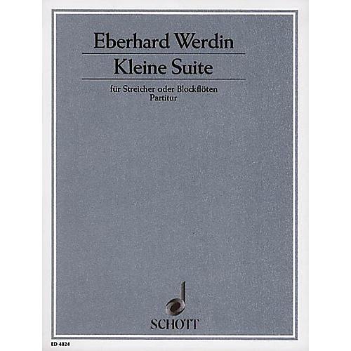 Schott Kleine Suite (Full Score) Schott Series Composed by Eberhard Werdin thumbnail