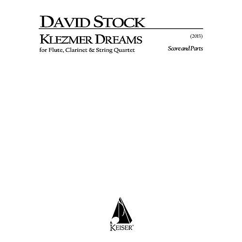 Lauren Keiser Music Publishing Klezmer Dreams for Flute, Clarinet and String Quartet - Full Sc LKM Music Series Softcover by David Stock thumbnail