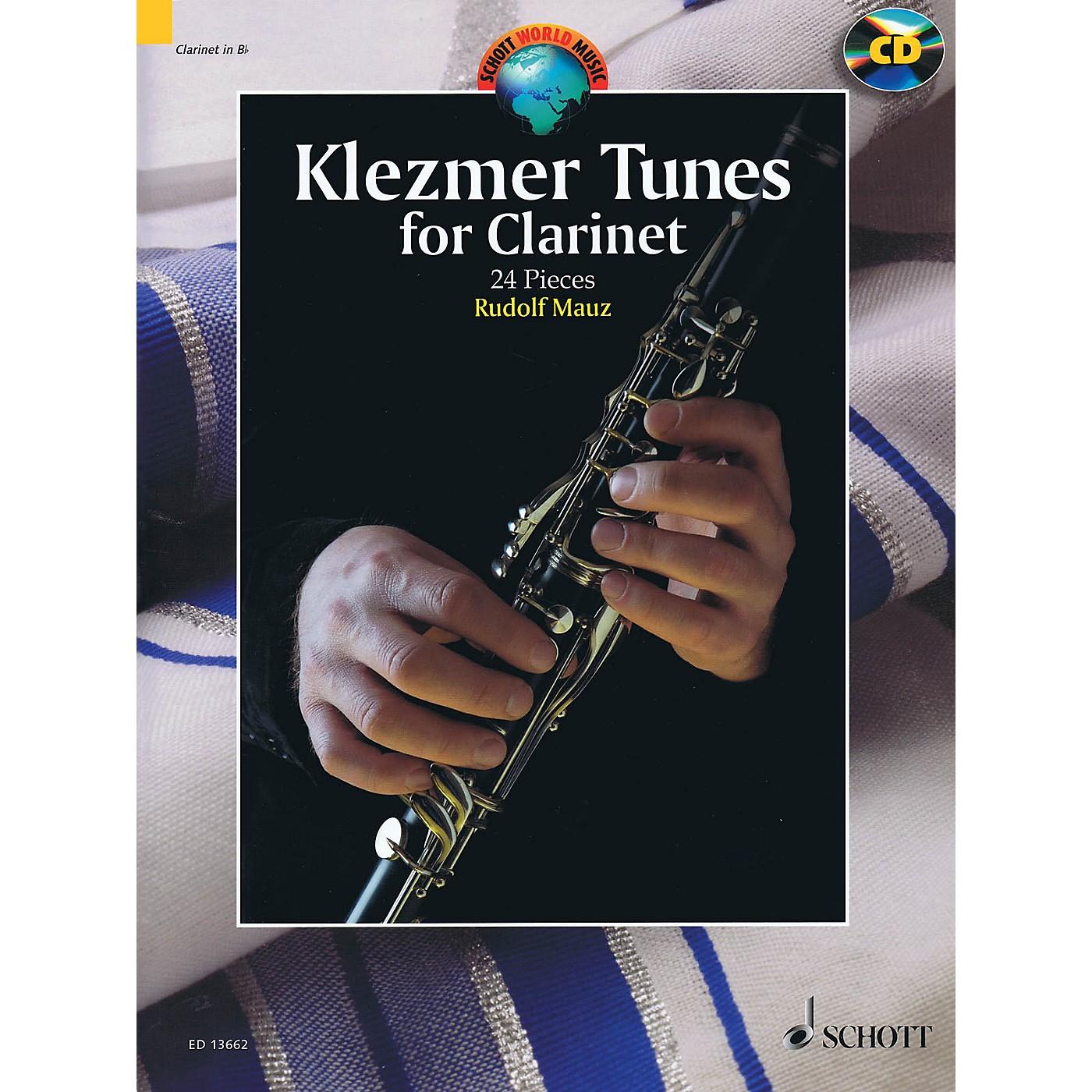 Schott Klezmer Tunes for Clarinet (24 Pieces) Woodwind Series BK/CD thumbnail