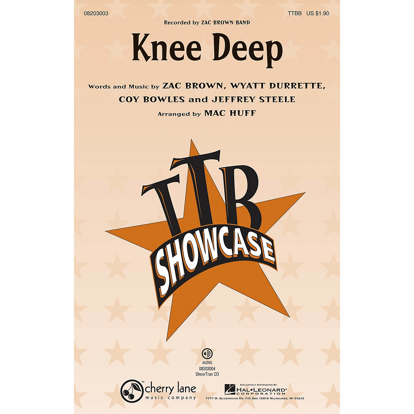 Hal Leonard Knee Deep ShowTrax CD by Zac Brown Band Arranged by Mac Huff thumbnail