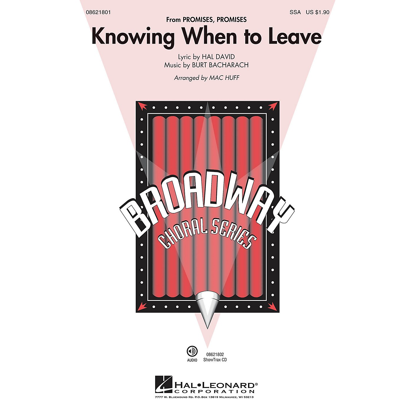 Hal Leonard Knowing When to Leave (from Promises, Promises) ShowTrax CD Arranged by Mac Huff thumbnail