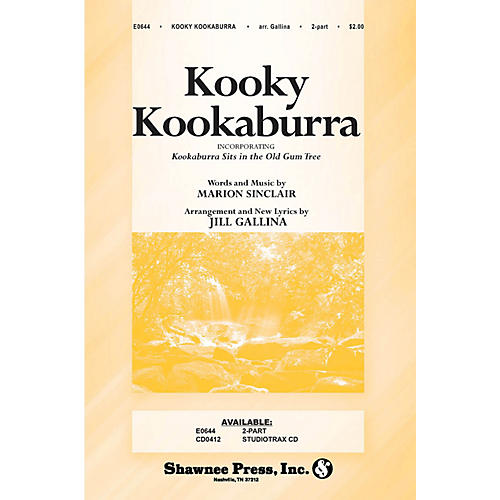 Shawnee Press Kooky Kookaburra 2-Part arranged by Jill Gallina thumbnail