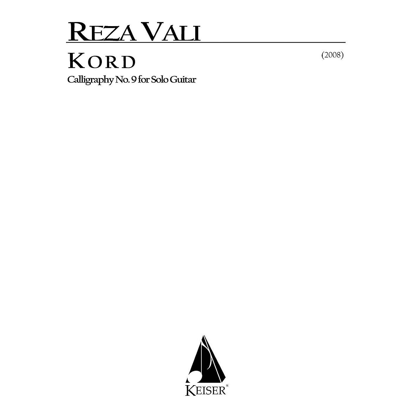 Lauren Keiser Music Publishing Kord for Solo Guitar: Calligraphy No. 9 LKM Music Series by Reza Vali thumbnail