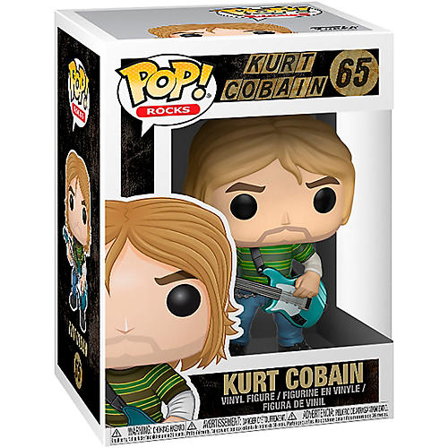 Funko Kurt Cobain in Striped Shirt Pop! Vinyl Figure thumbnail