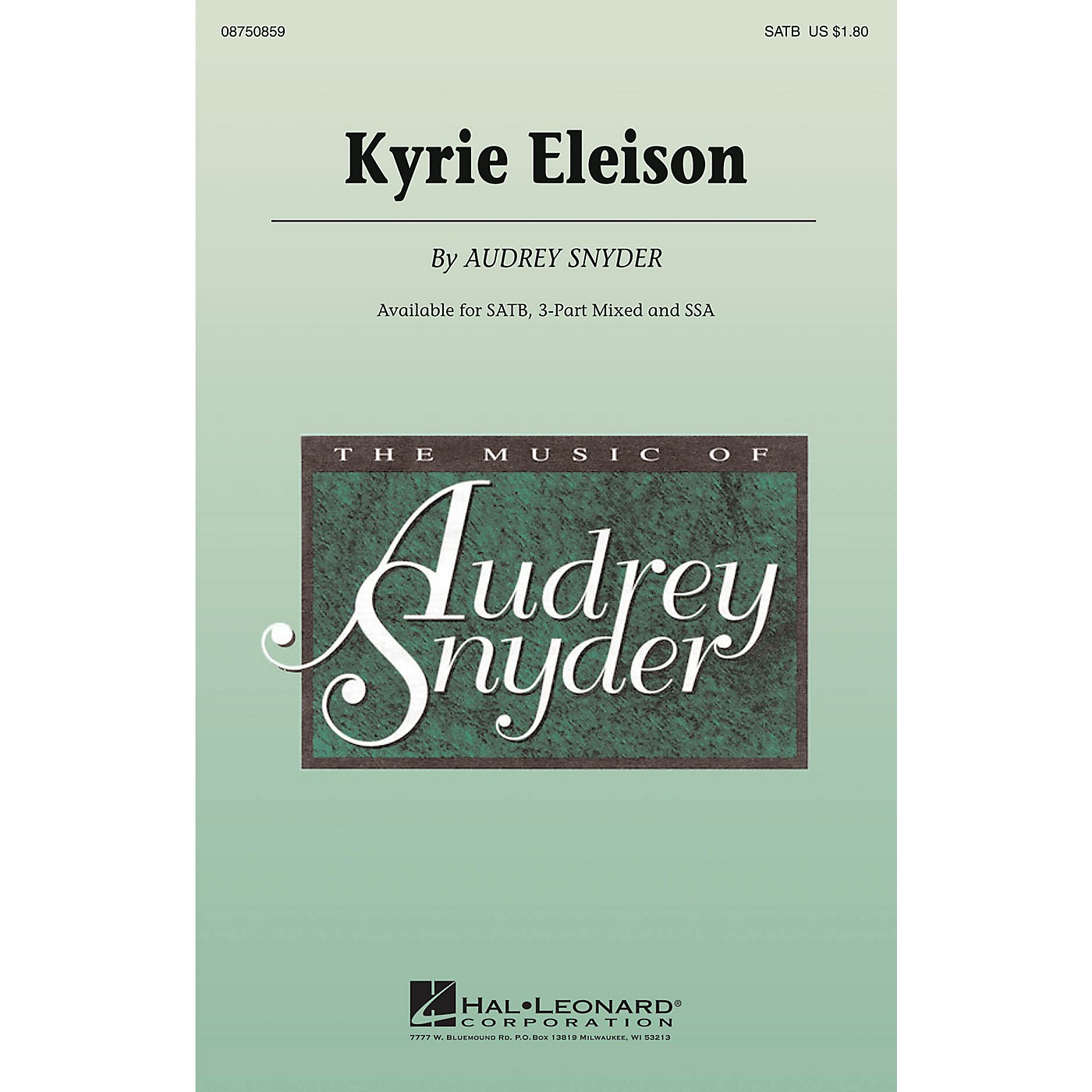 Hal Leonard Kyrie Eleison 3-Part Mixed Composed by Audrey Snyder thumbnail