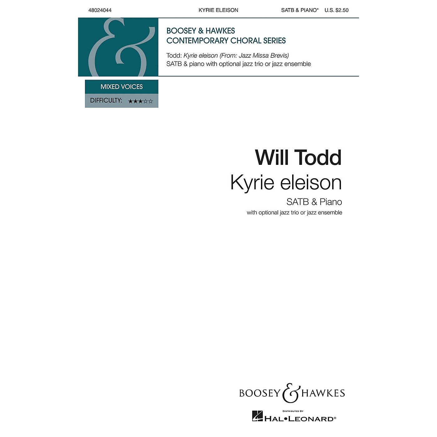 Boosey and Hawkes Kyrie Eleison SATB composed by Will Todd thumbnail
