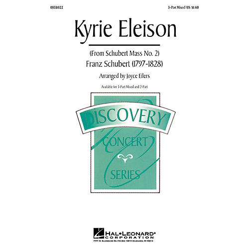 Hal Leonard Kyrie Eleison (from Mass No. 2) 3-Part Mixed arranged by Joyce Eilers thumbnail