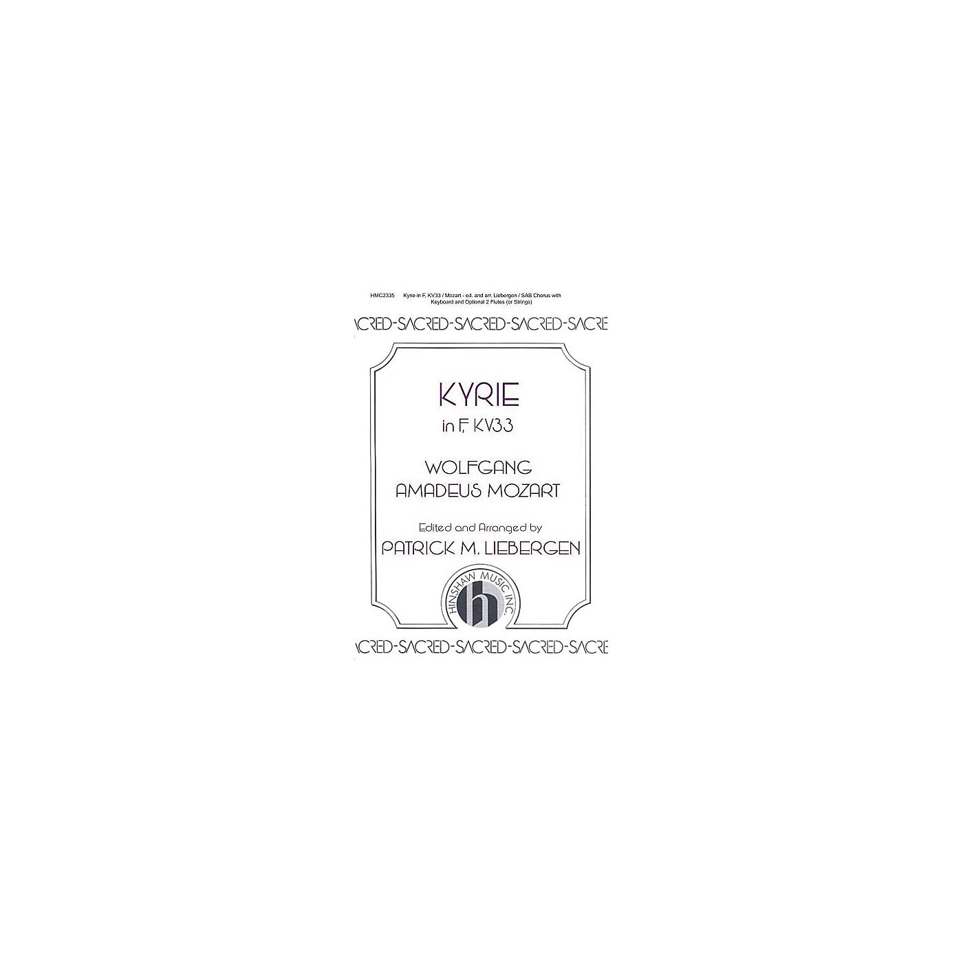Hinshaw Music Kyrie In F, Kv33 SAB arranged by Patrick Liebergen thumbnail