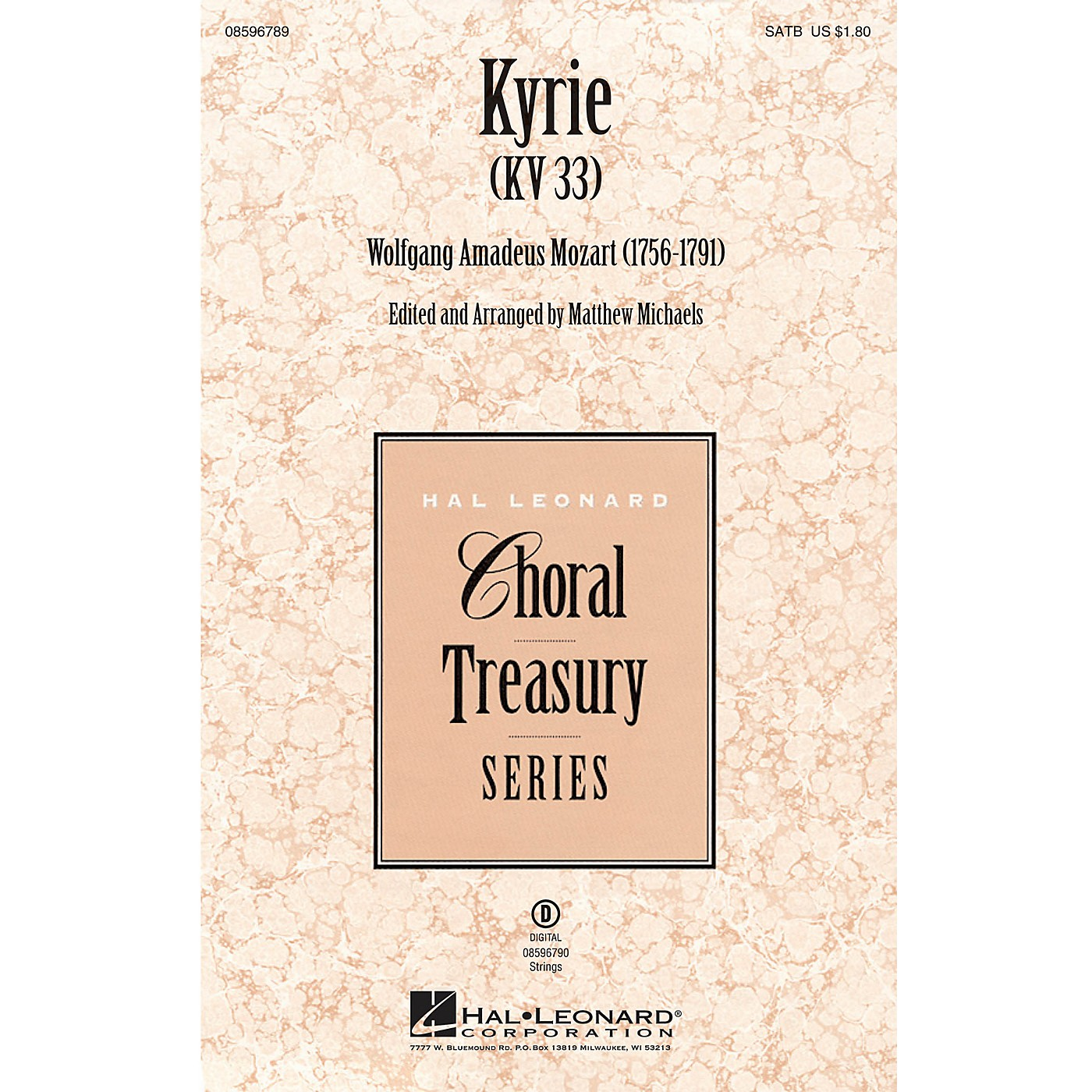 Hal Leonard Kyrie (KV33) SATB arranged by Matthew Michaels thumbnail