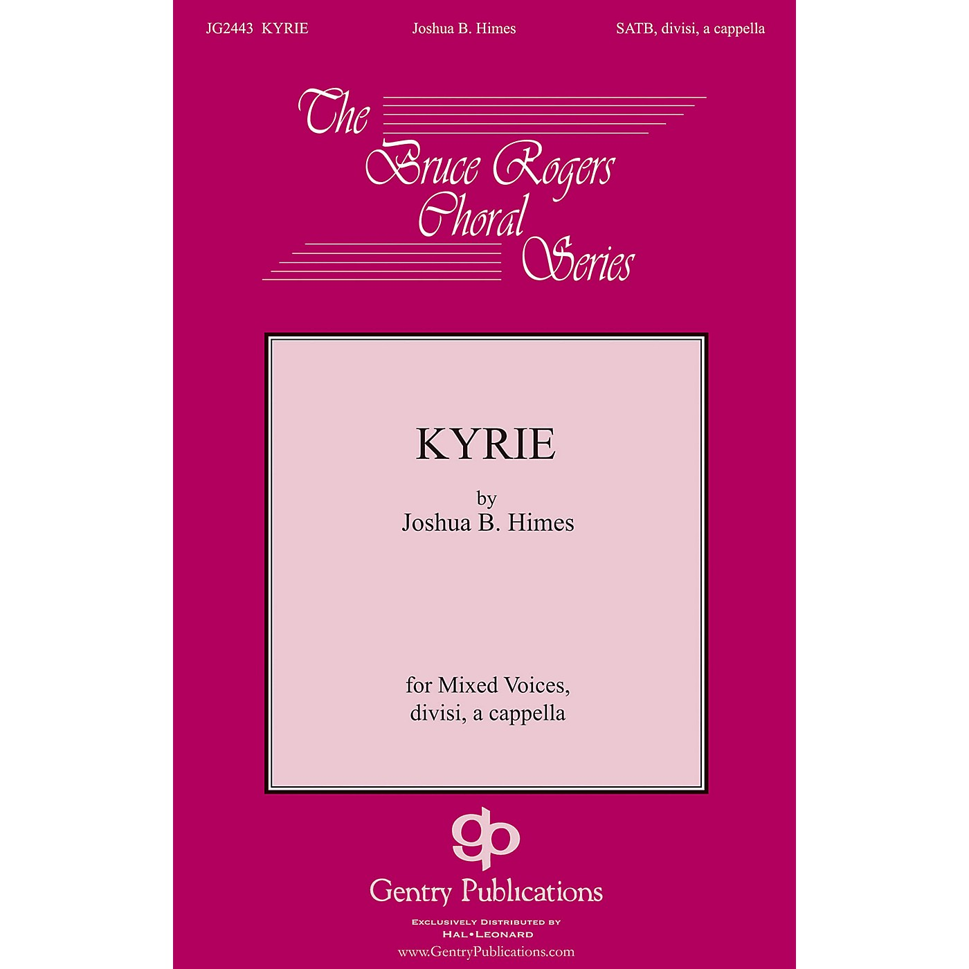 Gentry Publications Kyrie SSATB A Cappella composed by Joshua B. Himes thumbnail
