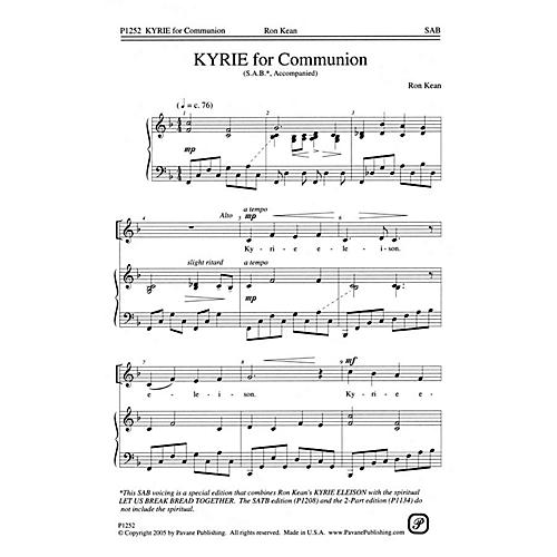 Pavane Kyrie for Communion SAB composed by Ron Kean thumbnail