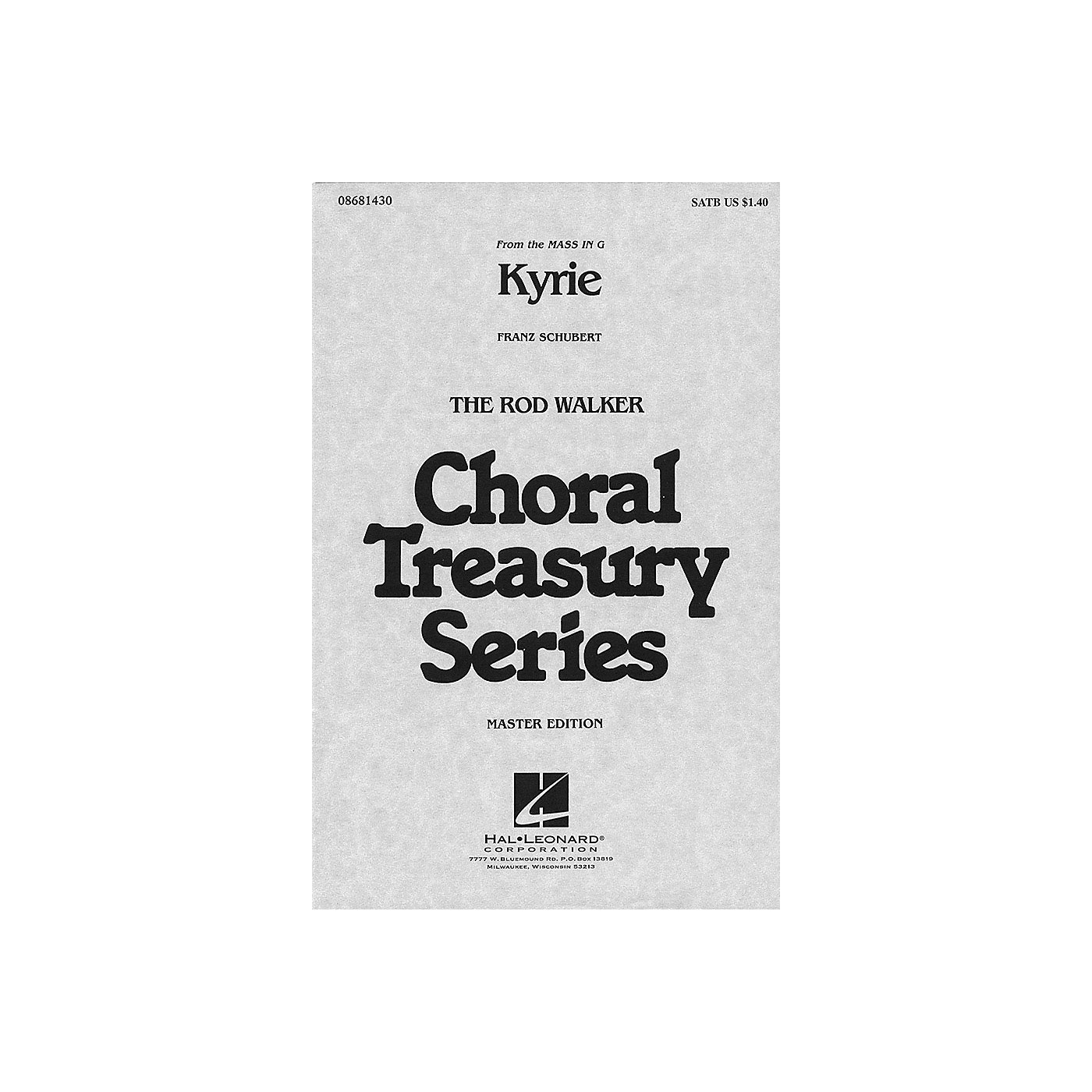 Hal Leonard Kyrie (from Mass in G) SATB arranged by Rod Walker thumbnail