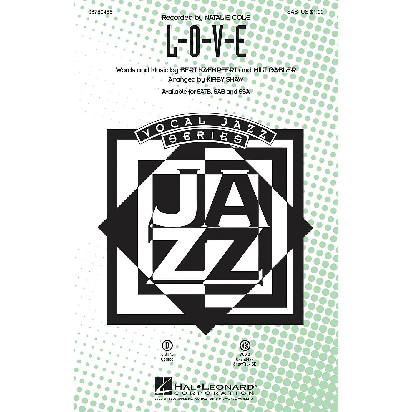 Hal Leonard L-O-V-E SAB arranged by Kirby Shaw thumbnail